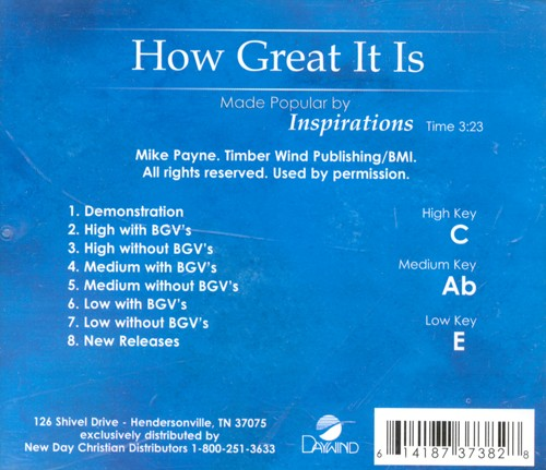 How Great It Is, Accompaniment CD