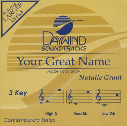 Your Great Name, Accompaniment CD