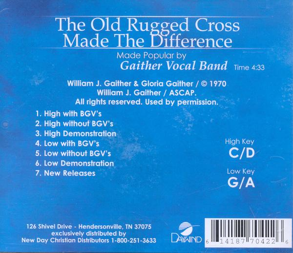 The Old Rugged Cross Made the Difference, Accompaniment CD