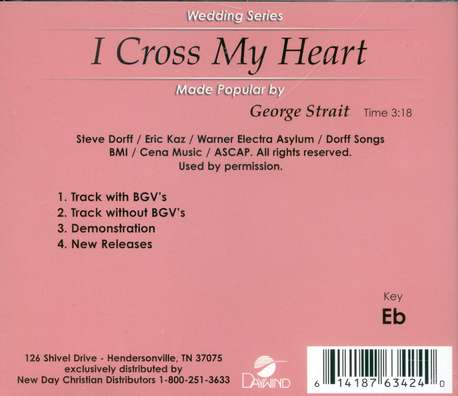 I Cross My Heart, Accompaniment CD