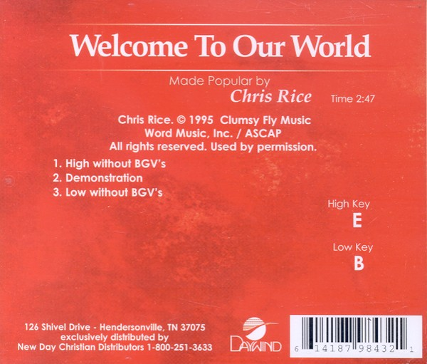 Welcome To Our World, Accompaniment CD
