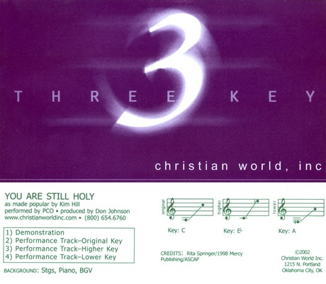 You Are Still Holy, Accompaniment CD