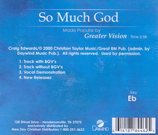 So Much God, Accompaniment CD