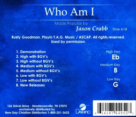 Who Am I, Acc CD