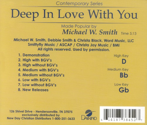 Deep In Love With You, Accompaniment CD