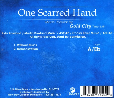 One Scarred Hand, Accompaniment CD