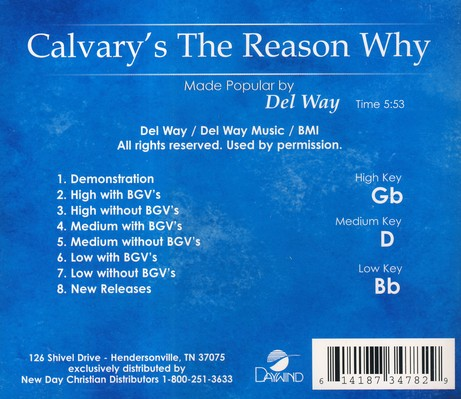 Calvary's The Reason Why, Accompaniment CD
