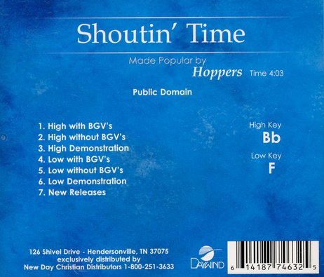 Shoutin' Time, Accompaniment CD