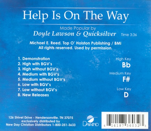 Help Is On The Way, Accompaniment CD