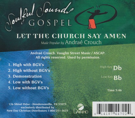 Let The Church Say Amen, Acc CD