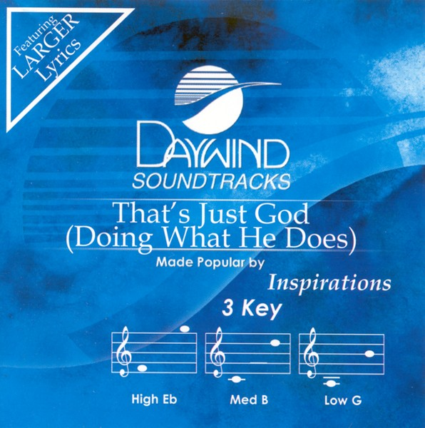 That's Just God (Doing What He Does), Accompaniment CD