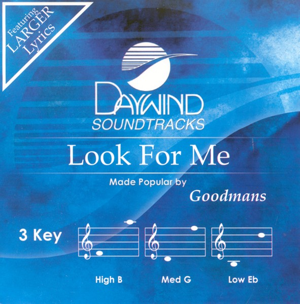 Look For Me, Accompaniment CD