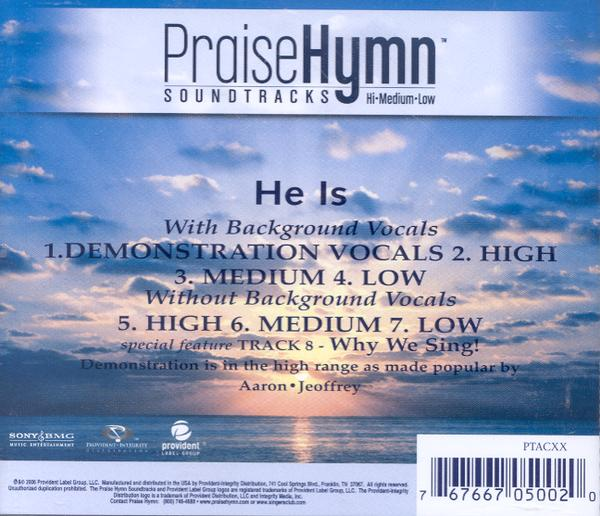 He Is, Accompaniment CD
