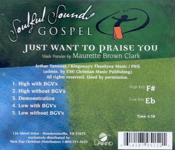 Just Want To Praise You, Accompaniment CD