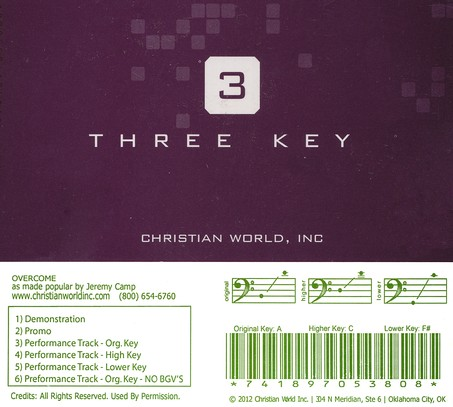 Overcome, Accompaniment CD