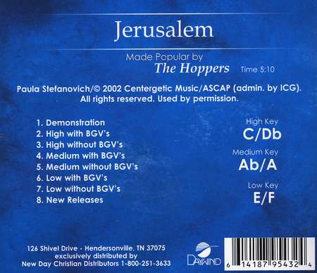 Jerusalem, Accompaniment CD