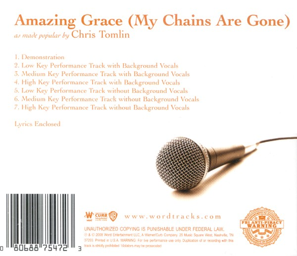 Amazing Grace (My Chains Are Gone), Accompaniment CD