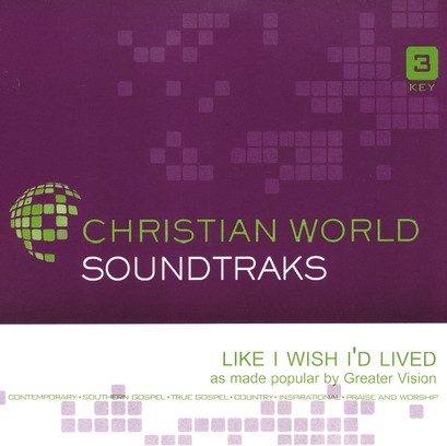 Like I Wish I'd Lived, Accompaniment CD