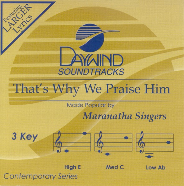 That's Why We Praise Him, Accompaniment CD