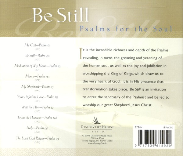 Be Still: Psalms for the Soul CD