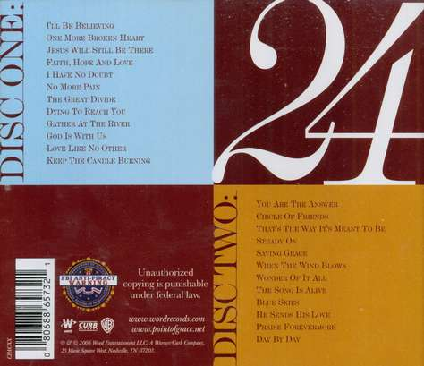 24 (Re-release) CD