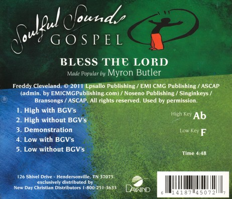 Bless the Lord, Acc CD