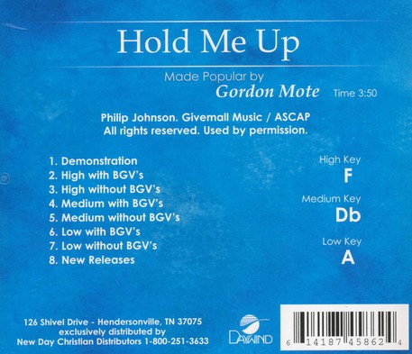Hold Me Up Acc, CD