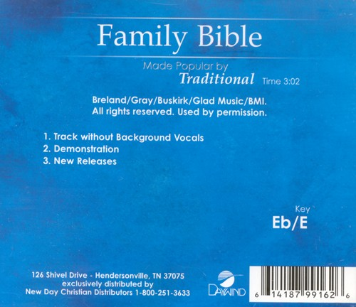 Family Bible, Accompaniment CD
