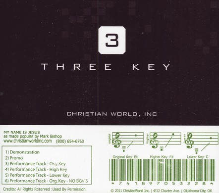 My Name Is Jesus, Accompaniment CD