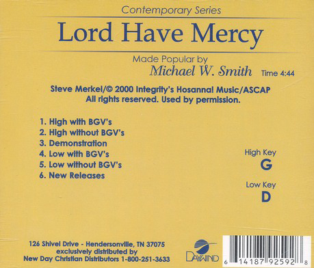 Lord Have Mercy Acc, CD