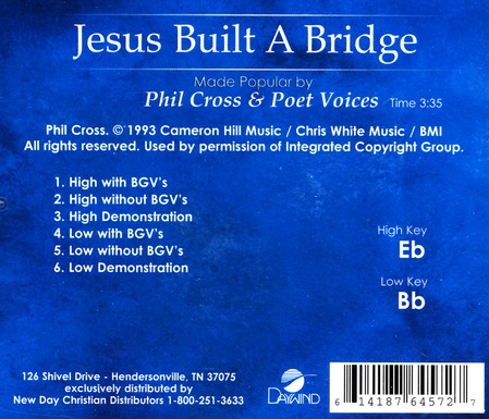 Jesus Built A Bridge, Acc CD