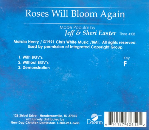 Roses Will Bloom Again, Accompaniment CD