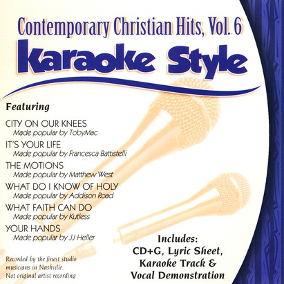 Contemporary Christian Hits, Volume 6, Karaoke Style CD