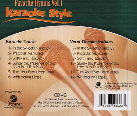 Favorite Hymns, Volume 1, Karaoke Style CD