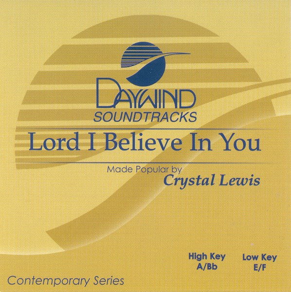 Lord I Believe in You, Accompaniment CD
