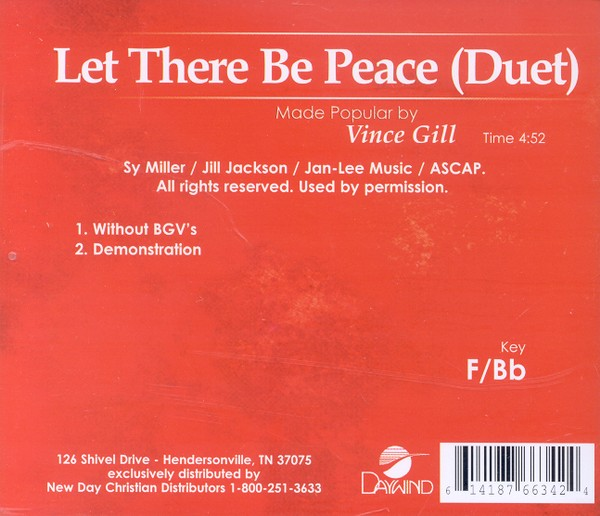 Let There Be Peace, Accompaniment CD