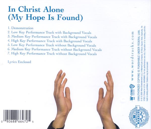 In Christ Alone (My Hope Is Found), Accompaniment CD