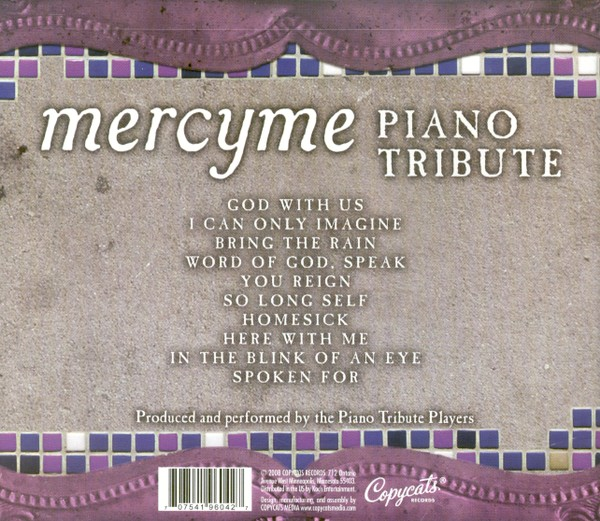 Piano Tribute: MercyMe CD