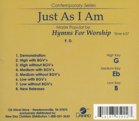 Just As I Am Acc, CD