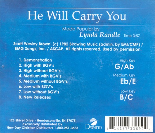 He Will Carry You, Accompaniment CD