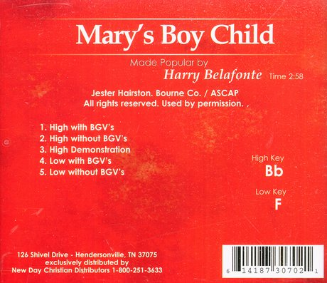 Mary's Boy Child, Accompaniment CD
