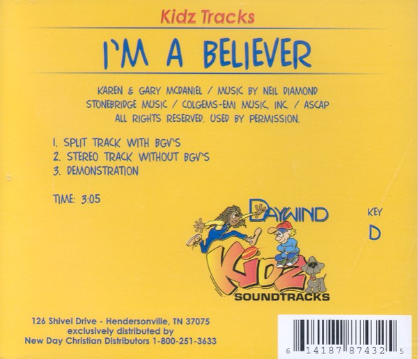I'm A Believer, Accompaniment CD