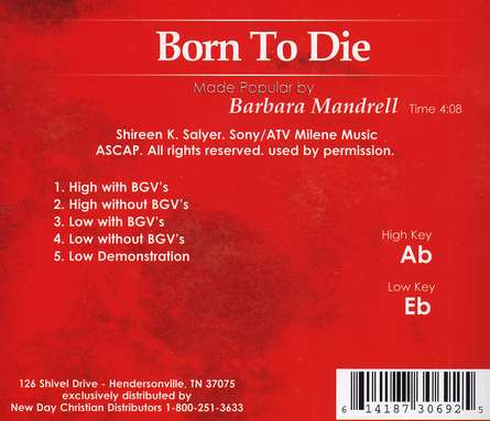 Born to Die, Accompaniment CD