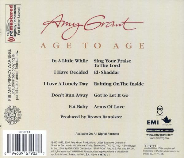 Age To Age, Remastered CD