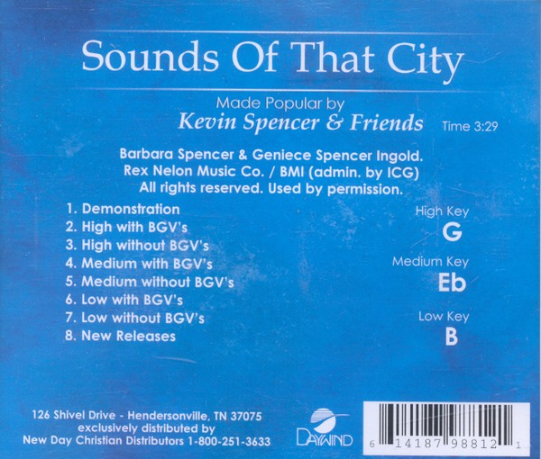 Sounds Of That City, Accompaniment CD
