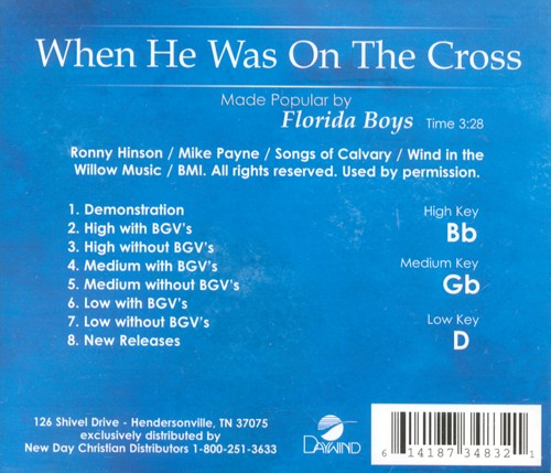 When He Was On The Cross, Acc CD