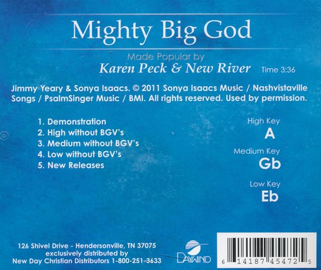 Mighty Big God Acc, CD