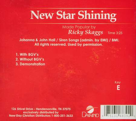 New Star Shining, Accompaniment CD