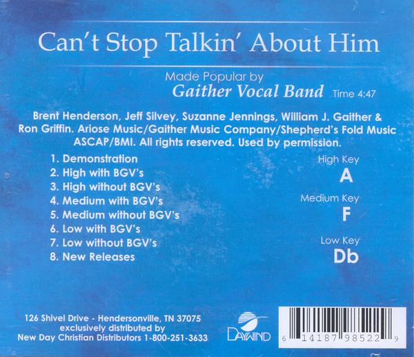Can't Stop Talkin' About Him, Accompaniment CD