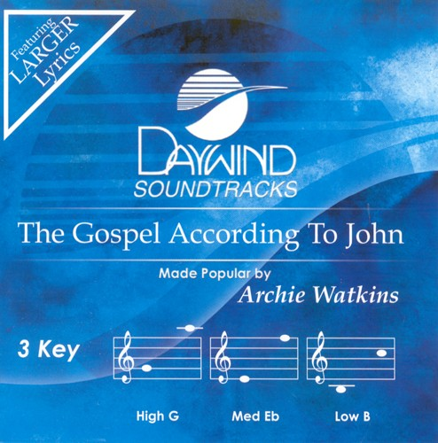 The Gospel According To John, Accompaniment CD